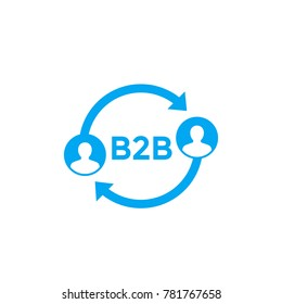 b2b vector icon on white