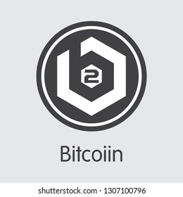 B2G - Bitcoiin. The Icon or Emblem of Virtual Currency, Market Emblem, ICOs Coins and Tokens Icon.