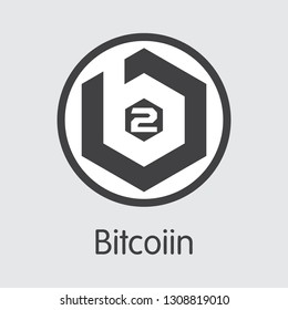 B2G - Bitcoiin. The Market Logo or Emblem of Virtual Momey, Market Emblem, ICOs Coins and Tokens Icon.