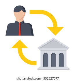 B2G or Business-to-government is a derivative of B2B marketing, vector illustration, icon