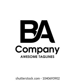 ba, ab initial overlapping letter logo