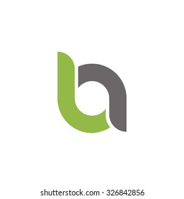ba, ab initial overlapping rounded letter logo