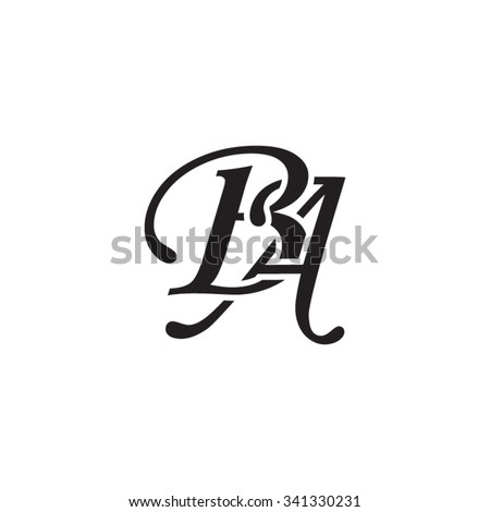 Ba Initial Monogram Logo Stock Vector Royalty Free 341330231