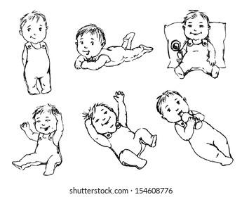 babbie. set of vector sketches