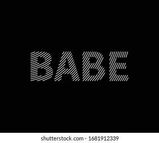 Babe line art, babe logo