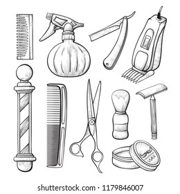 Hair Cutting Tools Drawing 5