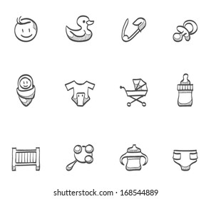 Babies icons in sketch.