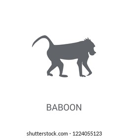Baboon icon. Trendy Baboon logo concept on white background from animals collection. Suitable for use on web apps, mobile apps and print media.