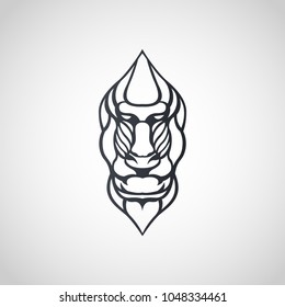 Baboon logo icon design, vector illustration