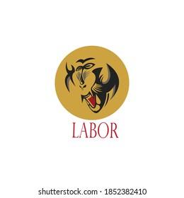 Baboon logo illustration ape clipart abstract vector design