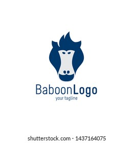 Baboon Monkey Logo Simple & Clean design for your company