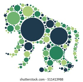 baboon shape vector design by color point