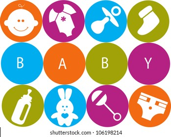 baby accessories, card template