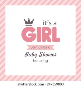baby announcement card. vector illustration