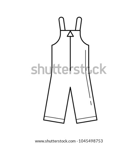 53398f209221 Baby apparel vector line icon isolated on white background. Rompers -  winter apparel for children line icon for infographic