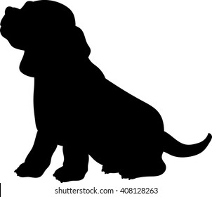 Baby Beagle vector silhouette