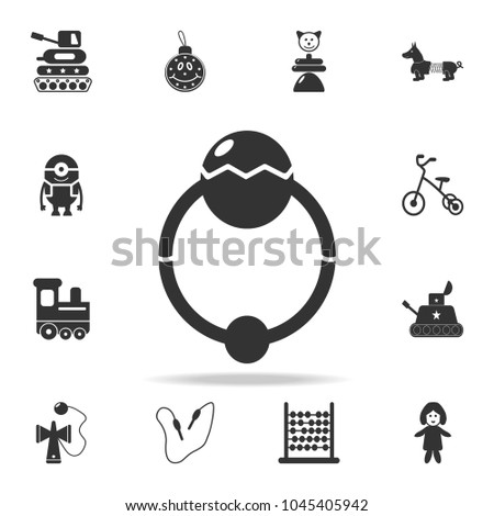 Sensational Baby Beanbag Icon Detailed Set Baby Stock Vector Royalty Squirreltailoven Fun Painted Chair Ideas Images Squirreltailovenorg