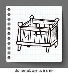 baby bed doodle
