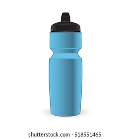 Baby blue color sport bottle isolated vector on the white background