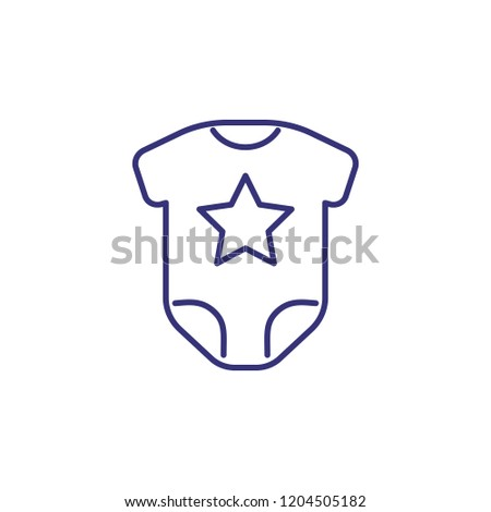 fc9f317ef07 Baby Bodysuit Line Icon Clothes Concept Stock Vector (Royalty Free ...
