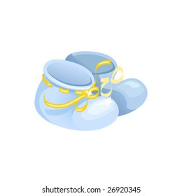 Baby boots, vector illustration