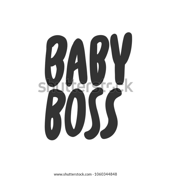 Vector De Stock Libre De Regalías Sobre Baby Boss Sticker