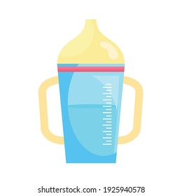baby bottle drink isolated icon vector illustration design