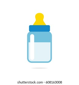 Baby bottle icon vector