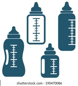 baby bottle icons