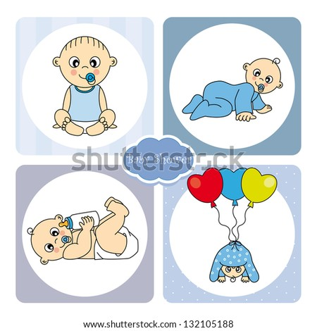 baby boy arrival announcement card stock vector royalty free