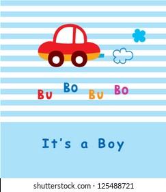 baby boy arrival car tag