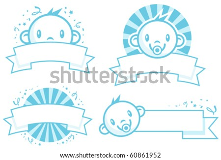 baby boy banners stock vector royalty free 60861952 shutterstock
