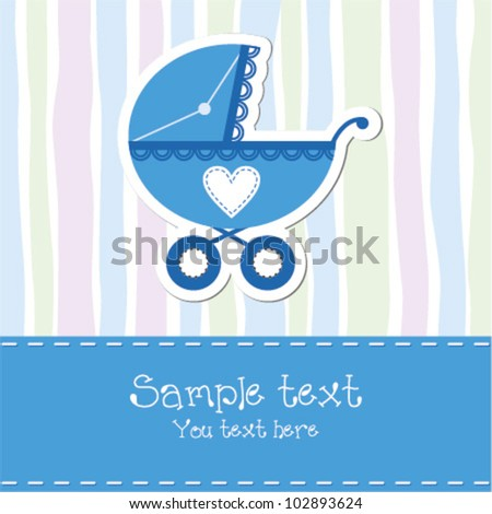Baby Boy Birthday Card Stock Vector Royalty Free 102893624
