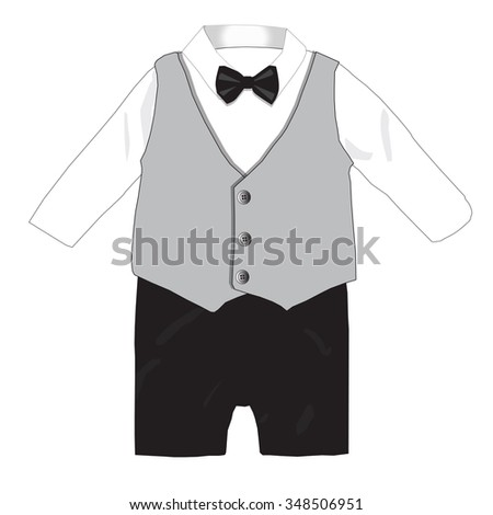 96d8c7f9975c Baby Boy Formal Wear Wedding Party Stock Vector (Royalty Free ...