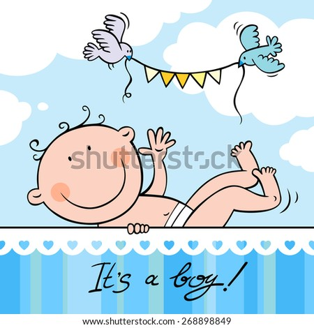 Baby boy greeting card stock vector royalty free 268898849 baby boy greeting card m4hsunfo