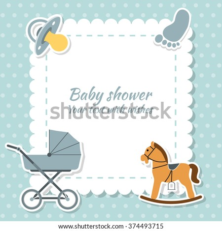 Baby boy greeting card baby shower stock vector royalty free baby boy greeting card baby shower vector m4hsunfo