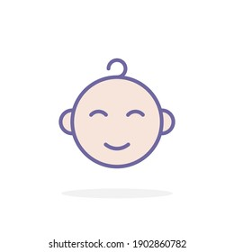 Baby boy icon in filled outline style. For your design, logo. Vector illustration.