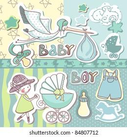 baby boy scrapbook set
