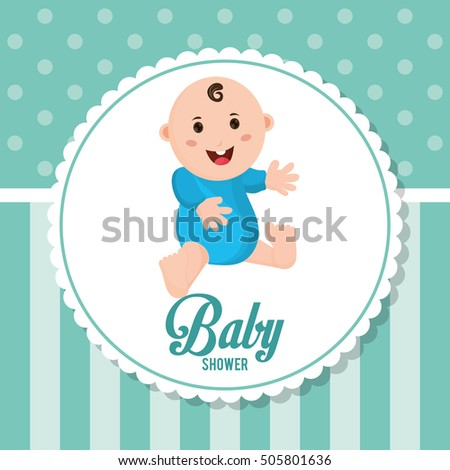 baby boy baby shower card design stock vector royalty free