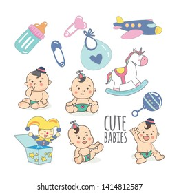 Cute Cartoon Baby Boy Clipart - Baby Boy Clipart Transparent, HD Png  Download - kindpng