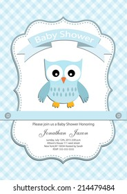 baby boy baby shower invitation card. Vector eps10,illustration.