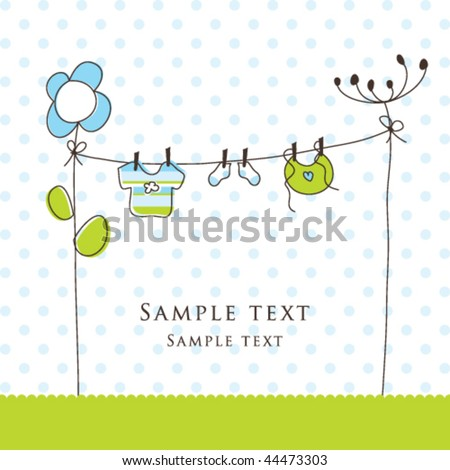 Baby Boy Shower Invitation Template Cute Stock Vector Royalty Free