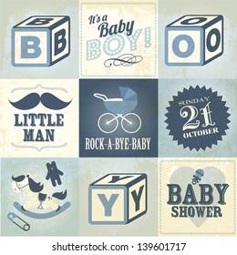 baby boy template vector/illustration