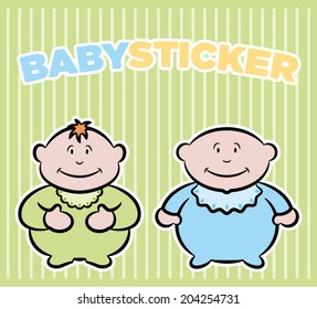 Baby boys stickers