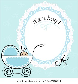 Baby card - Its a boy theme