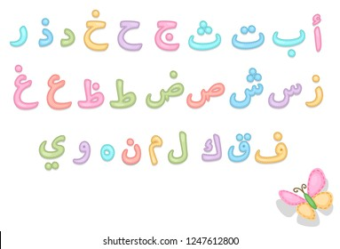 Baby care Arabic alphabets