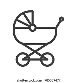 Baby carriage icon eps 10