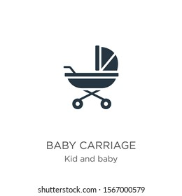 Baby carriage icon vector. Trendy flat baby carriage icon from kid and baby collection isolated on white background. Vector illustration can be used for web and mobile graphic design, logo, eps10