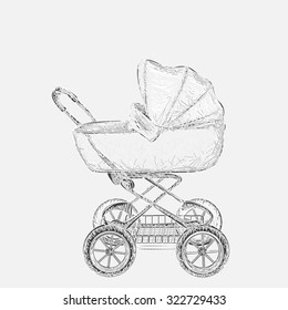 vintage baby carriage images stock photos vectors shutterstock