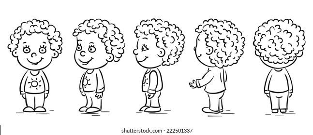 Baby cartoon character turnaround